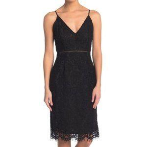 ASTR the Label Black Lace V Neck Sheath Dress NWT